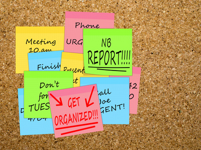 Time management, get organized, overwork business concept
