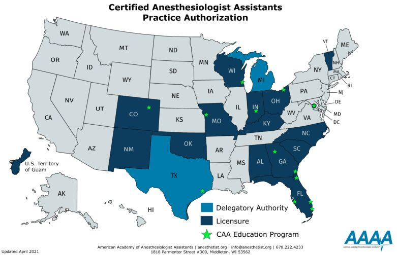 American Academy of Anesthesiologist Assistants: